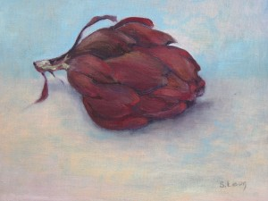 Purple Artichoke oil on canvas 375.00